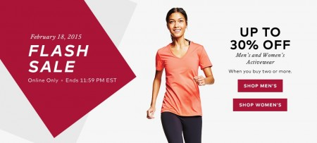 Hudson's Bay Flash Sale - Up to 30 Off Men's and Women's Activewear (Feb 18)