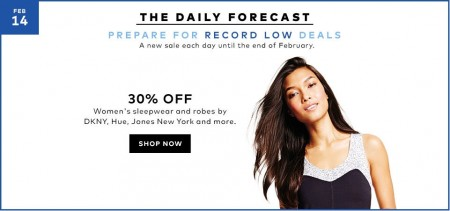 Hudson's Bay Today Only - 30 Off Women's Sleepwear and Robes (Feb 14)