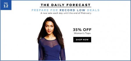 Hudson's Bay Today Only - 35 Off Women's Tops (Feb 12)