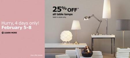 IKEA 25 Off All Table Lamps (Feb 5-8)