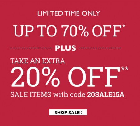 Naturalizer Save up to 70 Off + Extra 20 Off All Sale Shoes, Boots and Handbags (Feb 1)
