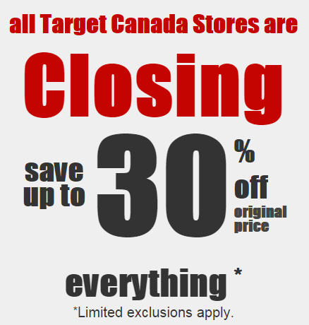 Target Canada Liquidation Sale - Save up to 30 Off Everything (Starts Feb 5)