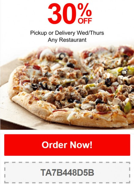 TasteAway Promo Code - 30 Off Any Restaurant Pickup or Delivery (Feb 11-12)