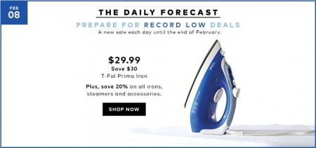 TheBay Today Only - $29.99 for T-Fal Prima Iron - 50 Off (Feb 8)