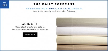TheBay Today Only - 40 Off Distinctly Home and Glucksteinhome Sheet Sets (Feb 3)