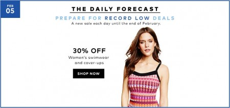 TheBay.com Today Only - 30 Off Women's Swimwear and Cover-Ups (Feb 5)