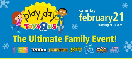 Toys R Us FREE Play Day Family Event (Feb 21)