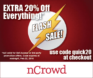 nCrowd Flash Sale - Extra 20 Off Everything Promo Code (Feb 20-22)