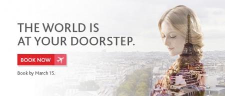 Air Canada Worldwide Seat Sale (Book by Mar 15)