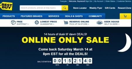 Best Buy Online Only Sale (Mar 14-15)