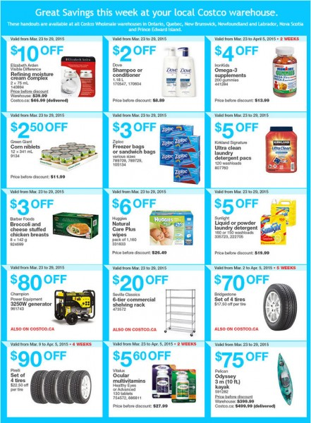 Costco Weekly Handout Instant Savings Coupons East (Mar 23-29)