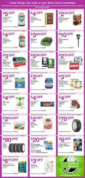 Costco Weekly Handout Instant Savings Coupons East (Mar 30 - Apr 5)