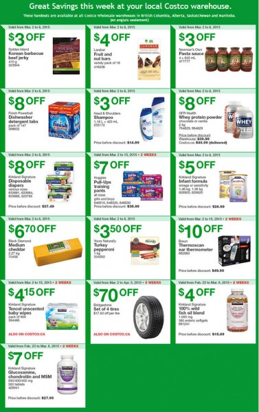 Costco Weekly Handout Instant Savings Coupons West (Mar 2-8)