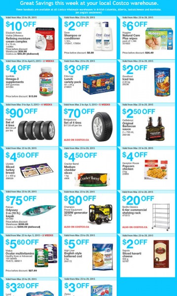 Costco Weekly Handout Instant Savings Coupons West (Mar 23-29)