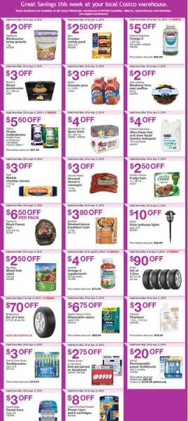 Costco Weekly Handout Instant Savings Coupons West (Mar 30 - Apr 5)