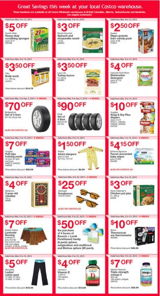 Costco Weekly Handout Instant Savings Coupons West (Mar 9-15)