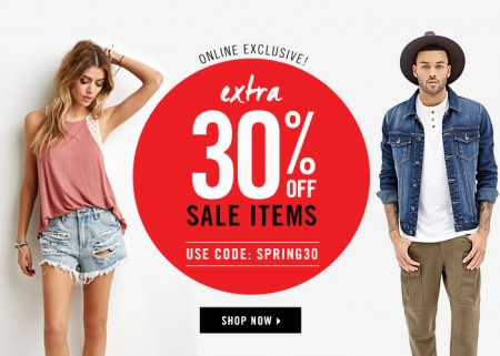 Forever 21 Extra 30 Off Sale Items (Mar 23-25)