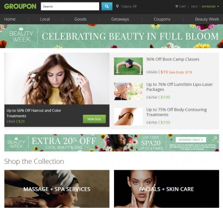 GROUPON Extra 20 Off Beauty and Spa Deals Promo Code, Up to 3 Deals (Mar 16)