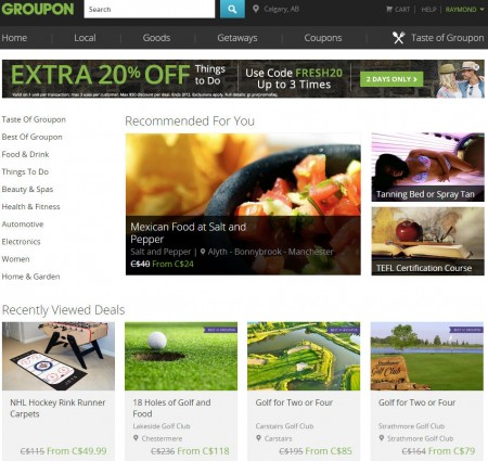 GROUPON Extra 20 Off Things To Do Promo Code (Mar 11-12)