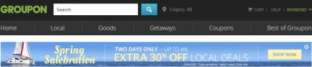 GROUPON Spring Salebration - Save up to Extra 30 Off Select Local Deals (Mar 25-26)