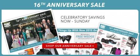 Golf Town 16th Anniversary Sale (Mar 19-22)