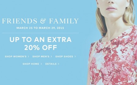 Hudson's Bay Friends & Family Sale - Save up to an Extra 20 Off (Mar 25-29)