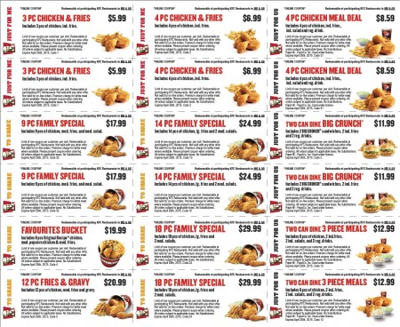 photograph relating to Kfc Coupons Printable titled Kfc discount coupons bc : Ninja cafe nyc coupon codes