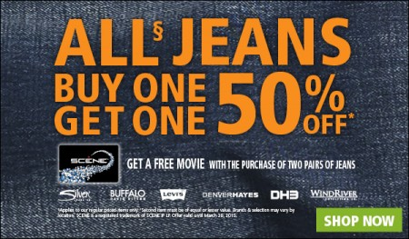 Mark's All Jeans Buy One, Get One 50 Off
