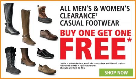 Mark's Buy One Footwear, Get One Free (Until Mar 16)