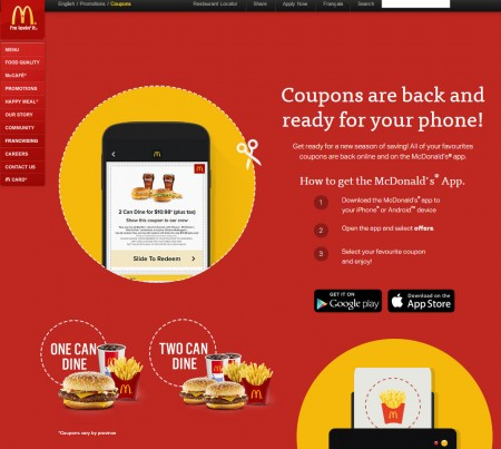 McDonald's Canada New McDonalds Coupons (Until Apr 12)