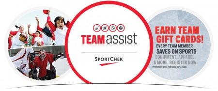 Sport Chek Team Assist Program 2015 Season Now Open - Lots of FREE Coupons