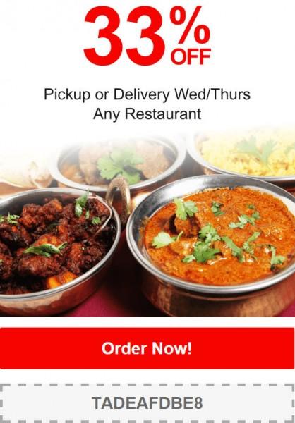 TasteAway: Promo Code - 33% Off Any Restaurant Pickup or ...