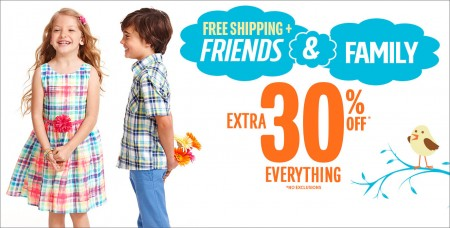 The Children's Place 30 Off Everything + Free Shipping on All Orders (Mar 5-8)