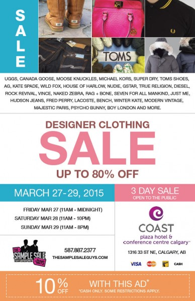 The Sample Sale Guys Designer Clothing Sale - Up to 80 Off + Extra 10 Off Coupon (Mar 27-29)