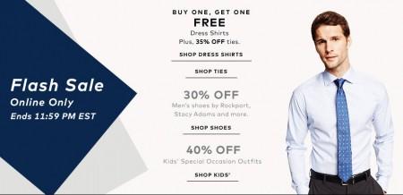 TheBay.com Flash Sale - Dress Shirts BOGO, 30 Off Men's Shoes, and 40 Off Kids Outfits (Mar 24)