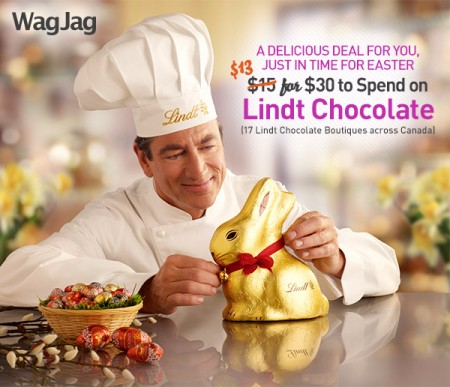 WagJag Extra $2 Off Lindt Chocolate Deal Promo Code - Over 7,000 Sold!
