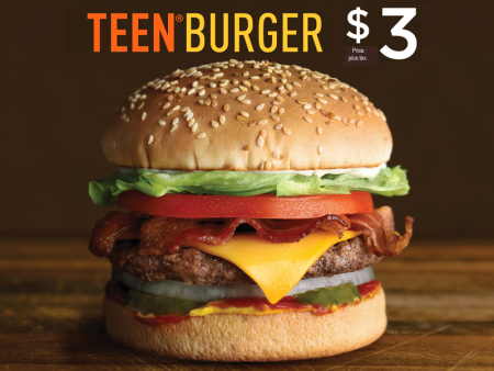A&W Teen Burger for only $3 (Until Apr 26)
