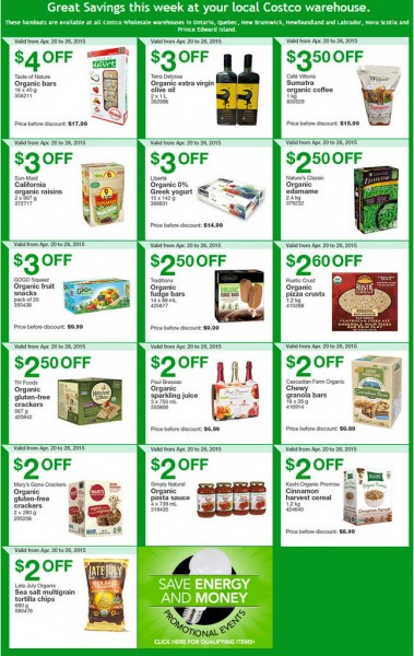 Costco Weekly Handout Instant Savings Coupons East (Apr 20-26)