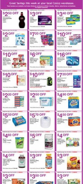 Costco Weekly Handout Instant Savings Coupons West (Apr 13-19)