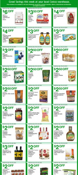 Costco Weekly Handout Instant Savings Coupons West (Apr 20-26)