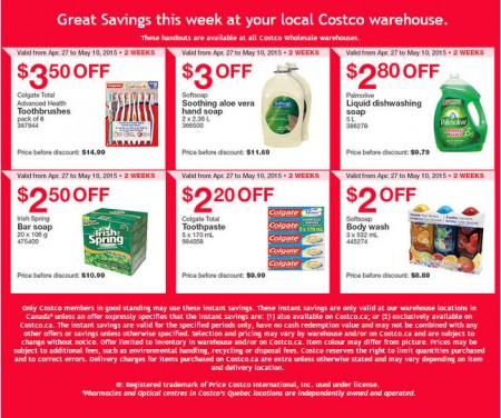 Costco Weekly Handout Instant Savings Coupons West (Apr 27 - May 10)