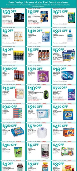 Costco Weekly Handout Instant Savings Coupons West (Apr 6-21)