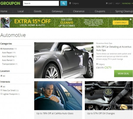 GROUPON Extra 15 Off Local Home and Auto Deals Promo Code (Apr 9-10)