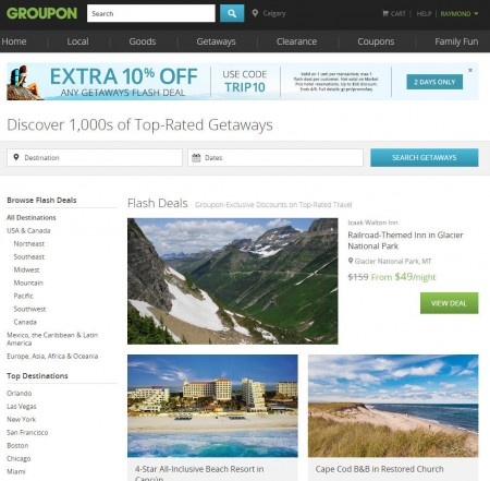 Groupon Extra 10 Off GetawaysTravel Deals Promo Code (Apr 7-8)