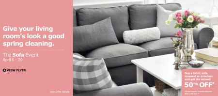 IKEA Sofa Event - Buy a Fabric Sofa, Loveseat or Armchair and Get the Second for 50 Off (April 6-20)