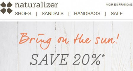 Naturalizer Promo Code - 20 Off Your Entire Purchase