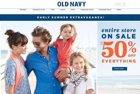 Old Navy Entire Store up to 50 Off Everything (Apr 3- May 3)