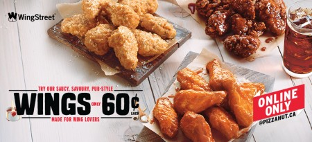 Pizza Hut Chicken Wings only $0.60 Cents Each - Online Only