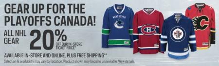 Sport Check 20 Off All NHL Fan Gear + Free Shipping (Apr 11-16)