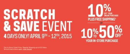 Sport Chek Scratch and Save Event (Apr 9-12)